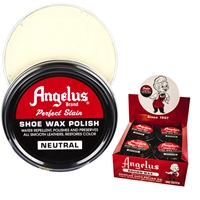 Angelus Perfect Stain Wax Shoe Polish Extra Large 3 fl oz/88ml Neutral