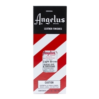 Angelus Suede Dye and Dressing, 3 fl oz/89ml Bottle. Light Brown