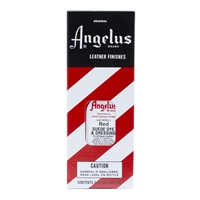 Angelus Suede Dye and Dressing, 3 fl oz/89ml Bottle. Red