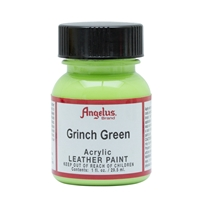 Angelus Acrylic Leather Paint 1 fl oz/30ml Bottle. Grinch Green 263