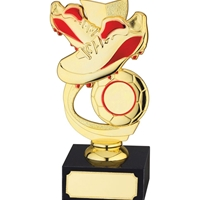 16cm Football Award Red and Gold. Fits A 1 Inch Centre