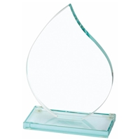 6 Inch Flame Jade Glass Award 10mm Thick