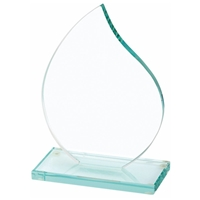 7 Inch Flame Jade Glass Award 10mm Thick