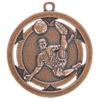 50mm Football Medal - Bronze