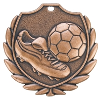 D77BBA 50mm Football Medal - Bronze