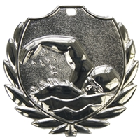 D77CZG 50mm Swimming Medal - Silver
