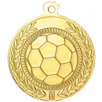 45mm Football Medal - Gold