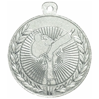 45mm Karate Medal - Silver