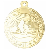45mm Swimming Medal - Gold