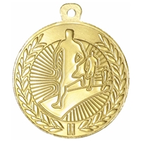 45mm Running Medal - Gold