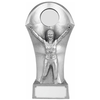 13.5cm Resin Female Victory Award. Silver