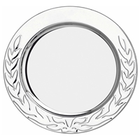4 Inch Stainless Steel Tray Laurel Wreath