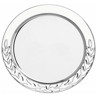 5 Inch Stainless Steel Tray Laurel Wreath