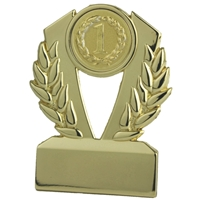 Q10GG 3 Inch Metal Award - Gold