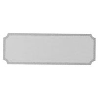 G68ZG 17x50mm Notched Engraving Plate - Silver