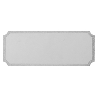 G69ZG 24x62mm Notched Engraving Plate - Silver