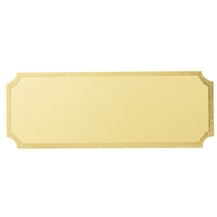 G74GG 27x73mm Notched Engraving Plate - Gold