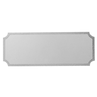 G74ZG 27x73mm Notched Engraving Plate - Silver