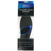 Birch Memory Foam Insoles Gents Size 9-10, Euro 43-44