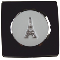 Eiffel Tower Compact Mirror Hinged In Gift Box
