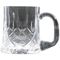 Half Pint Tankard Hand Cut Crystal With Engraving Panel