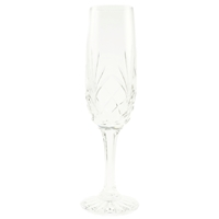Minerva Long Stem Champagne Flute Hand Cut Crystal