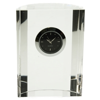 8cm Ribbed Glass Clock