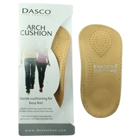 Dasco Leather Arch Cushion Insoles, Gents Size 9