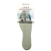 Dasco Deodorising Latex Foam Insoles, Gents Size 8