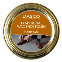 Dasco Waxed Shoe Polish Dark Tan 50ml