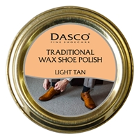 Dasco Waxed Shoe Polish Light Tan 50ml
