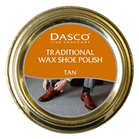 Dasco Waxed Shoe Polish Tan 50ml