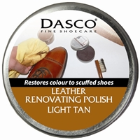 Dasco Renovating Shoe Polish Light Tan 50ml