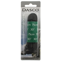 Dasco Laces Waxed Cord 75cm Black Blister