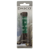 Dasco Laces Round 100cm Brown Blister Packed