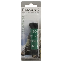 Dasco Laces Round 120cm Black Blister Packed