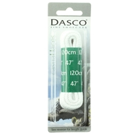Dasco Laces Chunky Cord 120cm White Blister Packed