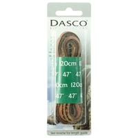 Dasco Laces Leather 120cm Two Tone Blister Packed