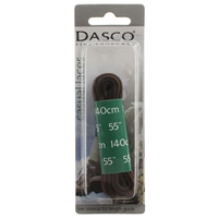 Dasco Laces Kicker Cord 140cm Brown Blister Packed