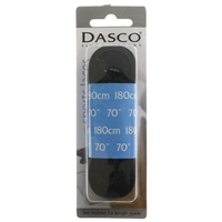 Dasco Laces Flat 180cm Black Blister Packed