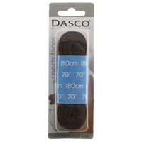Dasco Laces Flat 180cm Brown Blister Packed