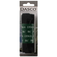 Dasco Laces Flat 220cm Black Blister Packed