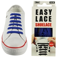Easy Lace Silicone Shoelaces - Flat Blue - Box Of 20 Pieces
