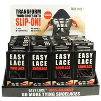 Easy Lace Counter Stand Boxed Round Laces 24 Assorted