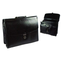 865 Bonded Leather Briefcase With Lap Top Area