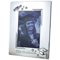 Graduation Photo Frame Silver Plated Fits 6 x 4 Inch