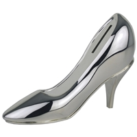 Shoe Money Box Silver Plated 15cm High