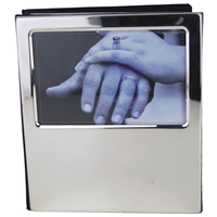 Silver Plated Photo Album Holds 100 x 4x6 Inch Photos