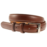 Tan Stitched Belt 30mm Wide - Medium - 110cm