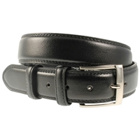Black Stitched Belt 35mm Wide - Medium - 110cm